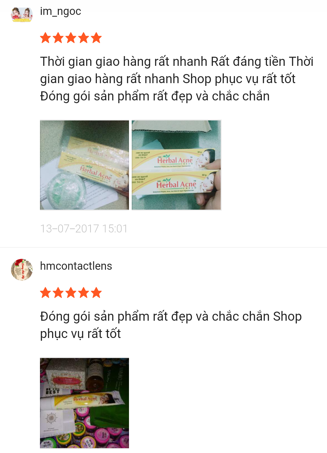 rew Herbal acne trên Shopee