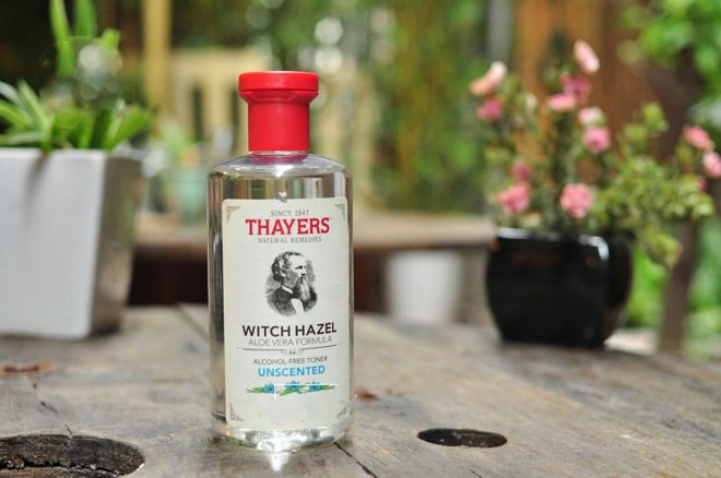 Review nước hoa hồng Thayers Alcohol Free Witch Hazel Toner.