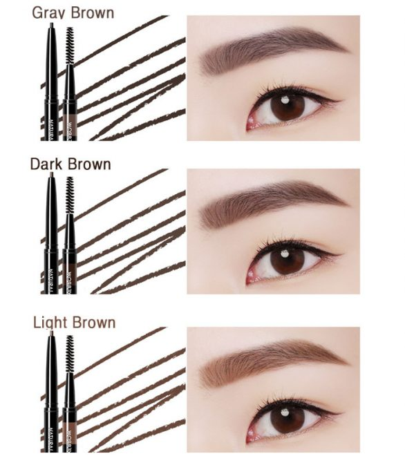 bảng màu chì kẻ mày Eglips Natural Slimfit Auto Eyebrown Pencil