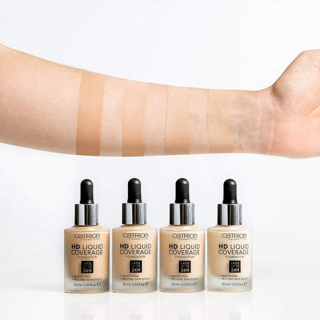 Catrice HD 24h Liquid Coverage Foundation có 4 tông màu