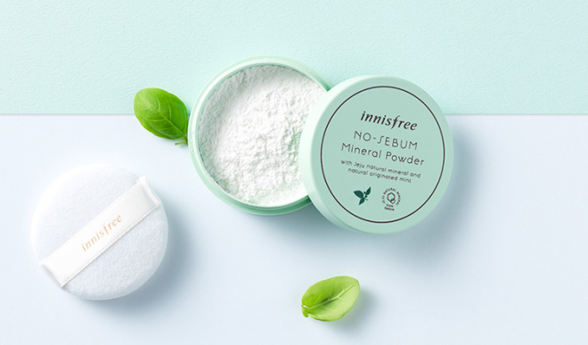 Innisfree No Sebum Mineral Powder dạng bột