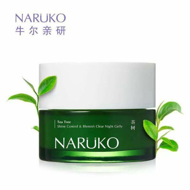Mụn Naruko Trà Tràm Ea Tree Shine Control Blemish Clear Night Gelly (80g)