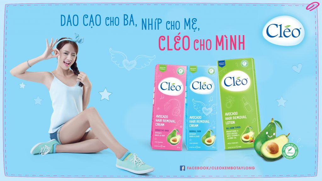 Lotion Tẩy Lông Cleo Avocado Hair Removal